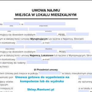 Wzór umowy najmu PDF