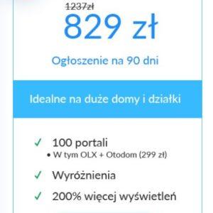 idealne na duże domy i działki - pakiet do promocji nieruchomości na 100 największych portalach ogłoszeniowych w polsce